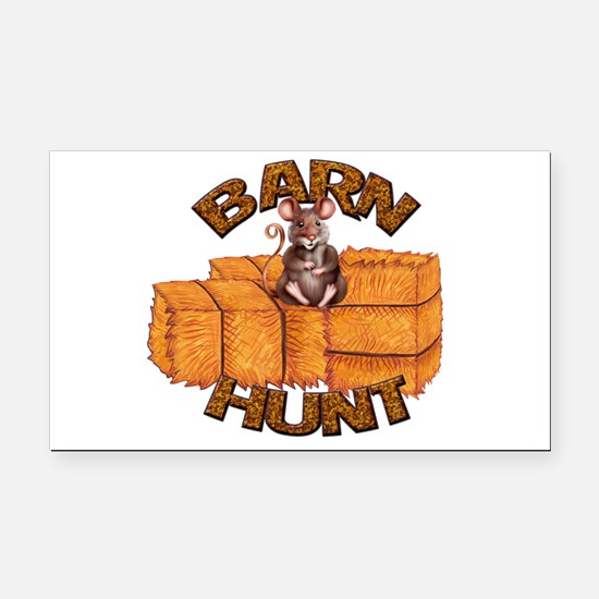 Barn Hunt Rectangle Car Magnet