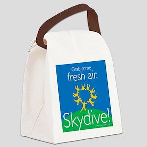 Get Fresh Air. Skydive! Canvas Lunch Bag