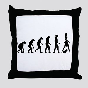 Evolution no text Throw Pillow