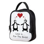 Love For Birds Penguins Neoprene Lunch Bag