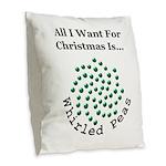 Christmas Peas 2 Burlap Throw Pillow