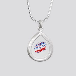Did the President Call? Silver Teardrop Necklace