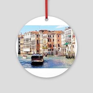 Italian Boat Ride Ornament (Round)