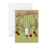Reindeer Skull Greeting Cards