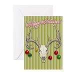 Reindeer Skull Greeting Cards