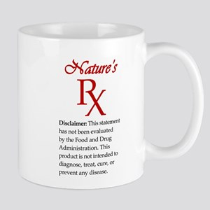 Nature's Rx with Disclaimer Mugs