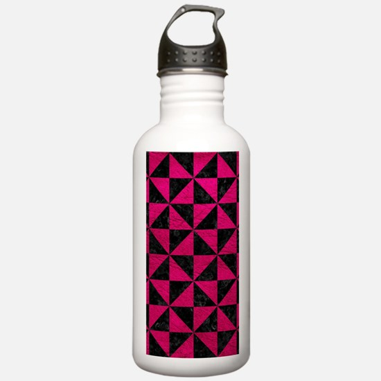 TRIANGLE1 BLACK MARBLE Water Bottle