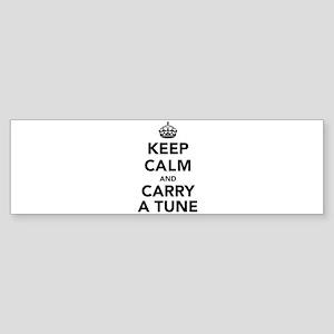 Keep Calm and Carry a Tune Sticker (Bumper)