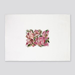 Tulip1 Design 5'x7'Area Rug