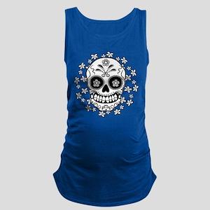 Sugar Skull.B W Maternity Tank Top
