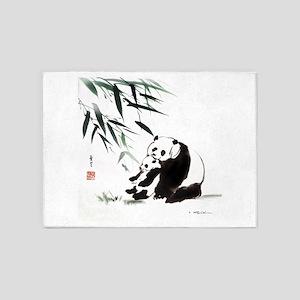 Mom and Child_Panda 5'x7'Area Rug