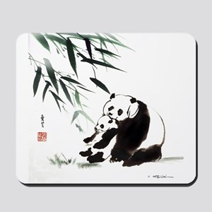 Mom and Child_Panda Mousepad