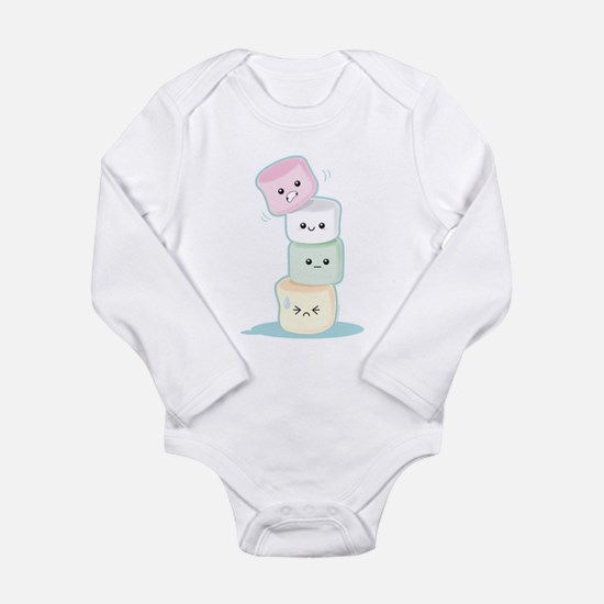 Cute Marshmallow Long Sleeve Infant Bodysuit