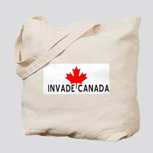 Invade Canada Tote Bag