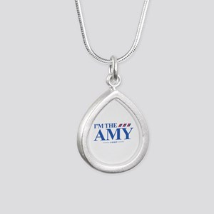 I'm the Amy Silver Teardrop Necklace