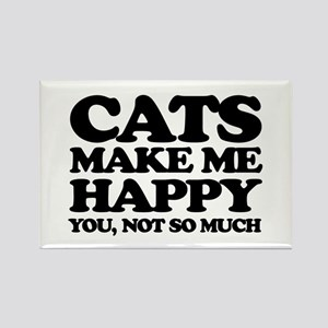 Cats Make Me Happy Magnets