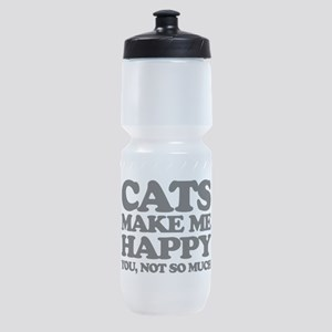 Cats Make Me Happy Sports Bottle