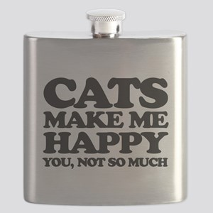 Cats Make Me Happy Flask