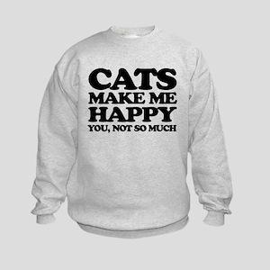 Cats Make Me Happy Sweatshirt