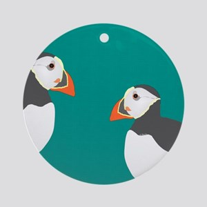 Puffin Ornament (round)