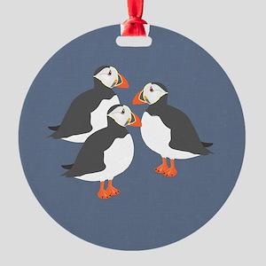 Puffin Round Ornament