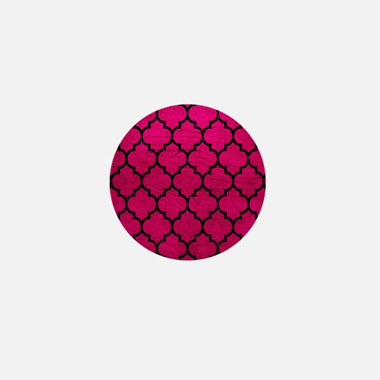 TILE1 BLACK MARBLE & PINK LEATHER Mini Button