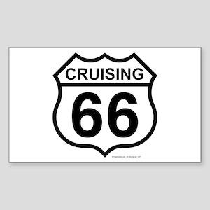 Cruising 66 (Route 66) Rectangle Sticker