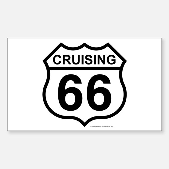 Cruising 66 (Route 66) Rectangle Decal