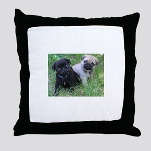 Pug Puppy Throw Pillow