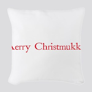 merrychristmukkah Woven Throw Pillow
