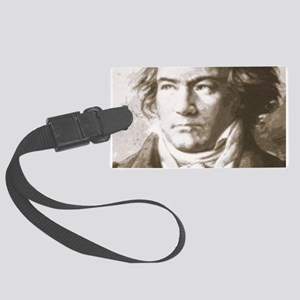 Beethoven In Sepia Large Luggage Tag