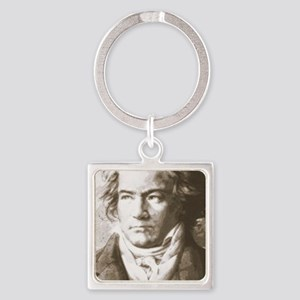 Beethoven In Sepia Keychains