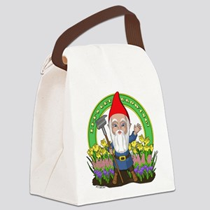 Let's Get Growing Gnome Money Canvas Lunch Bag