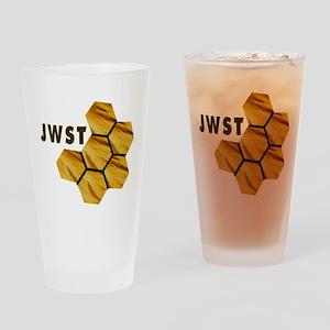 James Webb Mirror Logo Drinking Glass