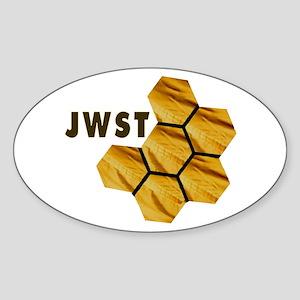 James Webb Mirror Logo Sticker (Oval)