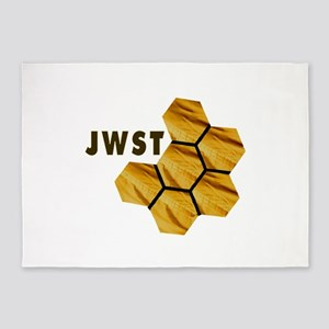James Webb Mirror Logo 5'x7'Area Rug