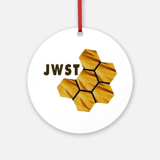 James Webb Mirror Logo Round Ornament
