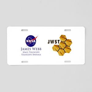 James Webb Mirror Logo Aluminum License Plate