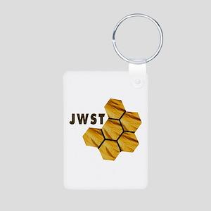 James Webb Mirror Logo Aluminum Photo Keychains