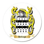 Hellings Round Car Magnet