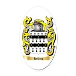 Helling Oval Car Magnet