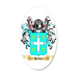 Hellier Oval Car Magnet