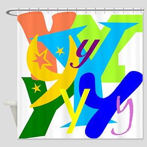 Initial Design (Y) Shower Curtain