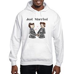 Gay Wedding 2 Grooms Hoodie