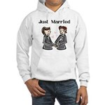 Gay Wedding 2 Grooms Hooded Sweatshirt