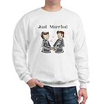 Gay Wedding 2 Grooms Sweatshirt