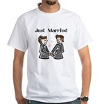Gay Wedding 2 Grooms White T-Shirt