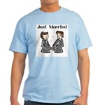 Gay Wedding 2 Grooms Light T-Shirt