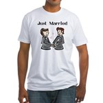 Gay Wedding 2 Grooms Fitted T-Shirt