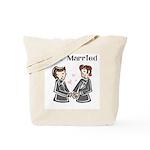 Gay Wedding 2 Grooms Tote Bag